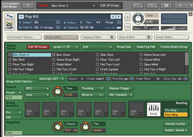 Using Kontakt Drums Outputs