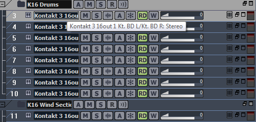 Using Kontakt Drums