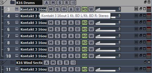 Using Kontakt Drums