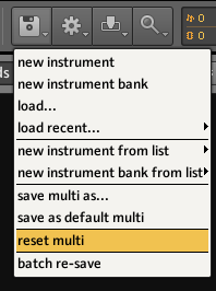 Using Kontakt Reset Multi