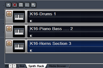 Using Kontakt Synth Rack