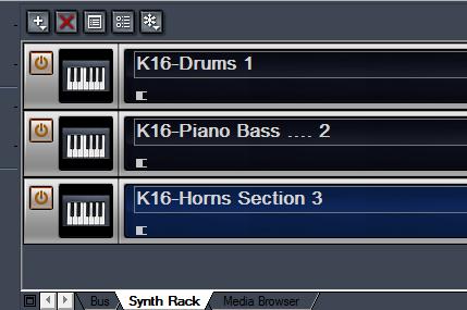 Using Kontakt Synth Rack
